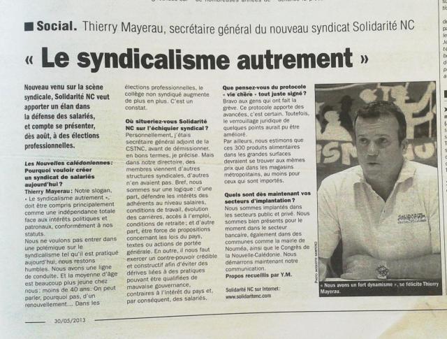 Journal du 30 Mai 2013